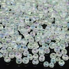 LOT DE 500 PERLES DE ROCAILLE BLANC TRANSLUCIDE Ø 4 mm 6/0 - CREATION BIJOUX