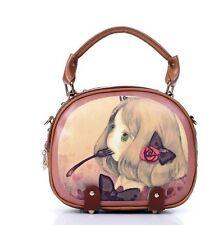Kawaii Ladies Cute Lolita Bag Girl's Crossbody Bags Little Girl Printed PU Bags