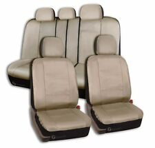 Zone Tech Luxury Universal Fit Interior Decor PU Leather Car Seat Cover Beige