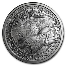 2 oz USA Silver Round - Destiny Knight -  Ritter - The Shield - 999 Silber