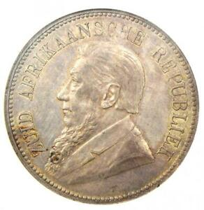 1892 South Africa Zar 5 Shillings Coin (Single Shaft, 5S) - Certified NGC AU58