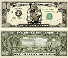 STATUE DE LA LIBERTE BILLET MILLION DOLLAR US! Série Etats Unis Liberty Miss USA