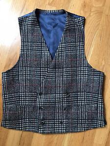 SUITSUPPLY Italian Wool Double Breasted Waistcoat Vest Tweed UK 40 Euro 50 New