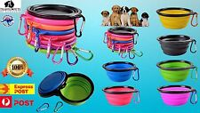 Dog Portable Water Bowl Travel Folding Pet Cat Animal Car Outdoors Collapsable