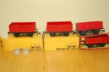 More details for 4 vintage tri-ang nova big big train o gauge red big load wagons rv.25b