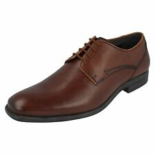 MENS HUSH PUPPIES KANE MADDOW BROWN LEATHER LACE UP FORMAL WEDDING SHOES