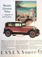 1928 Essex Super 6 Sedan Vintage Advertisement Print Art Car Ad Poster LG68