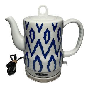 Bella Electric Ceramic Kettle Model KE7937-A 13724 Blue White TESTED Working