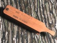 Vintage Turkey Box Call - Mr. Turkey Queen Of Queens - Turkey Call With Chalk