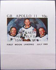 Great Britain - Block Apollo 11 overprint Aero & Astro Philately day 1971 MNH