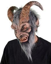 Krampus Gray Horned Devil Monster Adult Latex Halloween Mask