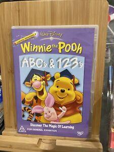 DISNEY Winnie The Pooh Learning Adventures ABC's & 123's DVD Region 4 Rare