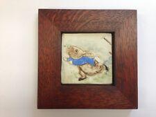 B.A. Schmidt Peter Running Art Tile Family Woodworks Arts & Crafts Frame