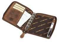 Greenburry Organizer Vintage Leder Terminplaner A6 I Organizer I Leder Notizbuch