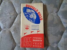 1965 BUFFALO BILLS MEDIA GUIDE YEARBOOK 1964 +65 AFL CHAMP Press Book Program AD