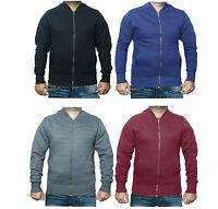 New Plain MA1 Mens Fleece Zip Up Bomber Jacket Harrington Sweatshirt Zipper Top