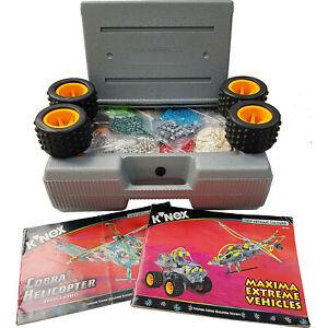 K'Nex Building Construction Toy Set Large Bundle Silver Case Box Extreme Vehicle