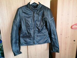 Frank Thomas Lady Rider Black Leather Armoured Motorcycle Jacket Size 14 EUR 40