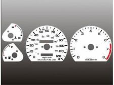 1985-1987 Honda Civic CRX Dash Cluster White Face Gauges 85-87