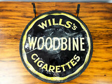 Antique British Advertising Wills Star Cigarettes Sign 1920s Double Sided Hanger