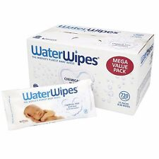 WaterWipes Chemical Free  Natural & Sensitive 12 x 60 (720 Wipes) NEW