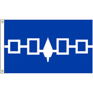 IROQUOIS 3ft x 5ft BANNER/FLAG HIGH QUALITY 100% POLYESTER METAL GROMMETS