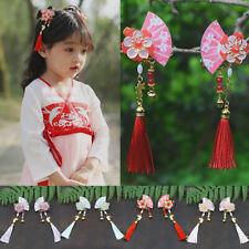 Ancient Chinese Style Hairpin Fan Shape Long Tassel Hair Pin Hanfu Headwear NEW