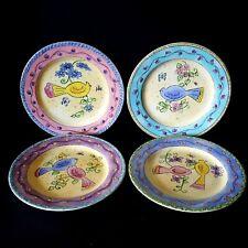 Sango Birds Bees 4 Salad Plates 1 Each Color Sue Zipkin 3042 More Pieces Avail
