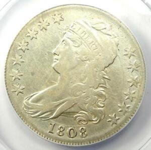 1808 Capped Bust Half Dollar 50C - Certified ANACS VF30 Details - Rare Coin!