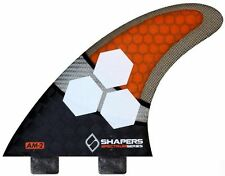 Shapers Fins - AM2 Spectrum (FCS) - Orange - Large - Thruster - Surfboard