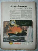 VTG 1943 Orig Magazine Ad Western Brass Bullets Our Hard Slugging Navy War