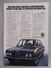 BMW 530i Car PRINT AD - 1976