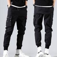 Men Plus Size Hip Hop Casual Pants Harem Pants Trousers Solid Pants Winter M-5XL