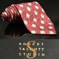 Robert Talbott Best Studio Silk Bright Red USA $79.5 Dapper Suit Fashion Tie