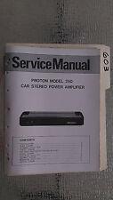 Proton 250 service manual original repair book stereo car radio power amplifier