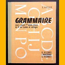 GRAMMAIRE Cours Moyen 1ère année Illustrations L. Bailly 1962