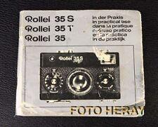 Rollei 35 35t 35s, en la práctica, las instrucciones originales 02368