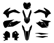 KTM SX SX-F 125 250 450 Motocross 2013 2014 2015 Vector Graphics MX Template 1:1