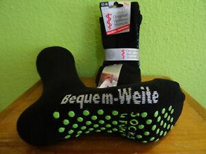2 Paar schwarze extra breit ABS - Druck Stopper Socken Herren Homesocks 35 - 50