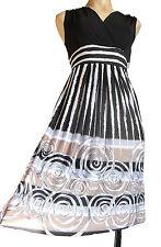 Jersey Striped Regular Size Midi for Women
