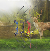 "52"" Archery Straight Bow Hunting Recurve Bow Longbow Takedown Bow Right Hand Bow"