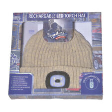 Portland chunky knit hat with LED torch