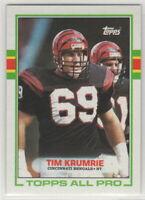 1989 Topps Football Cincinnati Bengals Team Set