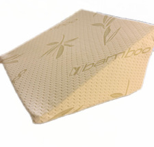 Bamboo Bed Wedge Pillow  Acid Reflux Flex Foam Support