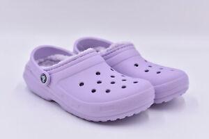Women's Crocs Classic Lined Slip On Mule Clogs, Purple, 8