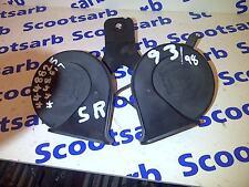 SAAB 900 9000 9-3 2x Horn High Tone Units 1994-2003 4448825 4448817 Original