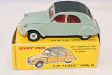 Dinky Toys 558 2 CV Citroen 61 near mint in box all original condition