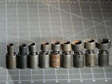 New Listingmac 9pc Metric 38 Dr Impact Swivel Universal Socket Set 10mm 22mm 6pt
