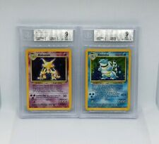 MINT BASE SET COLLECTION 100% COMPLETE HOLOS 1-16 BGS - CHARIZARD - BLASTOISE