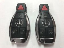 2 TWO MERCEDES-BENZ OEM GENUINE 4 BUTTON REMOTE KEY FOB GLK GL C CL E S SL PAIR